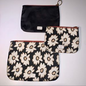 FOSSIL Cosmetic/Accessory Travel Pouch Bag Set (3)